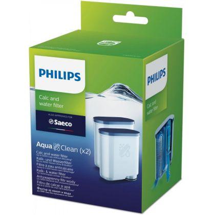 Filtru calcar si apa Saeco AquaClean CA6903/22 pentru espressoare Philips si Saeco, pachet 2 buc.