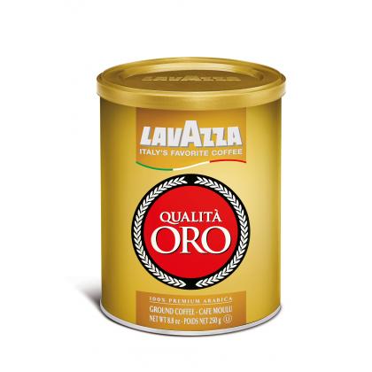 Lavazza Qualita Oro, cafea macinata 250 gr., cutie metal