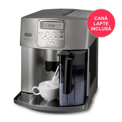 Espressor Automat Delonghi Magnifica Automatic Cappuccino ESAM3500.S, 15 bar, 1150W, 1.8l, 120gr - Reconditionat