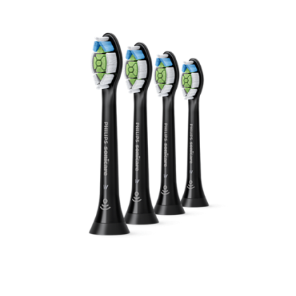 Rezerve standard de periuta de dinti electrica Philips Sonicare W2 Optimal White HX6064/11 , 4 buc, negre