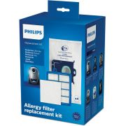 Kit aspirator Philips Performer Active FC8060/01: 4 saci de praf S-bag ULP, 1 filtru HEPA13, 1 filtru de intrare triplustrat , 4 pachetele de parfum
