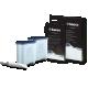 Kit intretinere pentru espressor Philips CA6707/00, 2 filtre AquaClean si tub lubrifiere, 6 plicuri curatare lapte, 6 tablete indepartare ulei