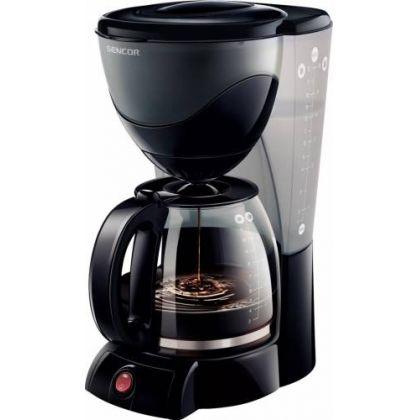 Cafetiera SCE 3000BK, 1000W, 1.5L Indicator apa, Filtru Sticla, Negru